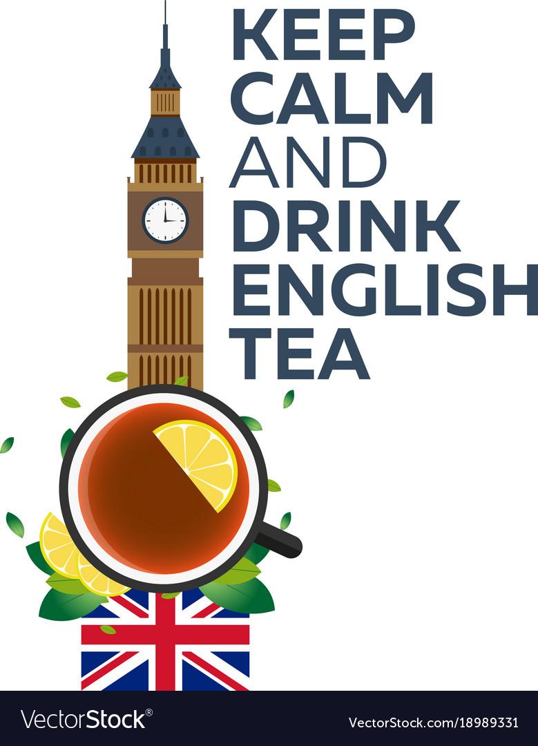 tea time cup of tea with lemon english tea vector image vectorstock