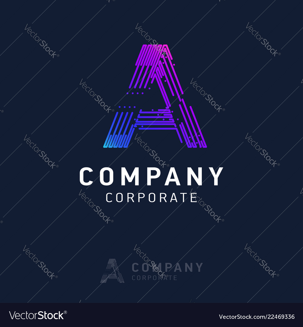 A company logo design with visiting card