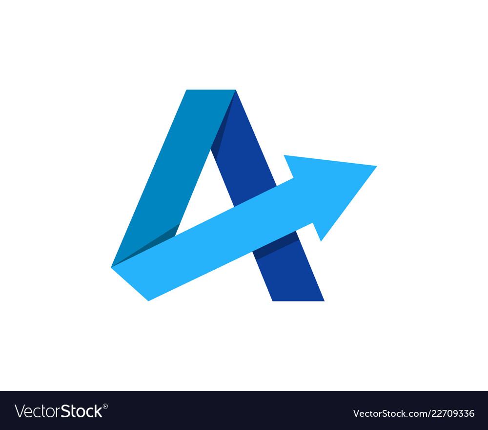 Arrow letter a logo icon design