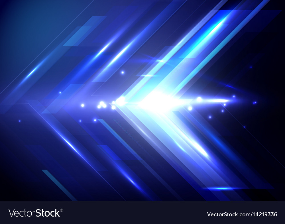 Blue abstract arrows sign digital hi technology vector image