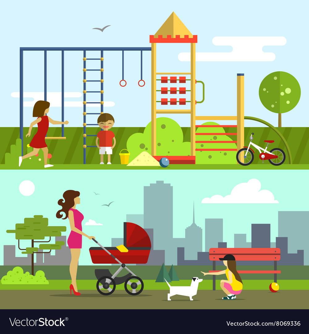 Children playground in flat