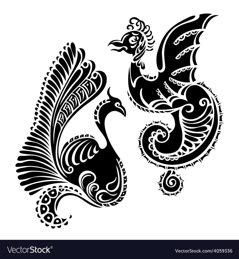 Fantasy abstract dragon tattoo
