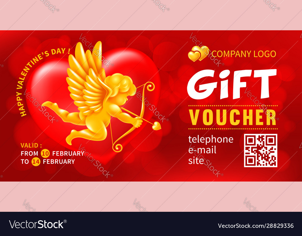 Gift voucher template for holiday shopping on