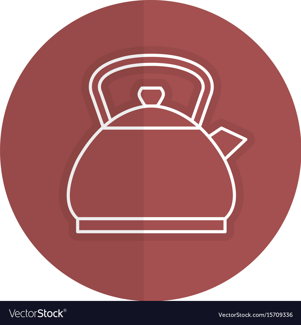 Kitchen teapot isolated icon