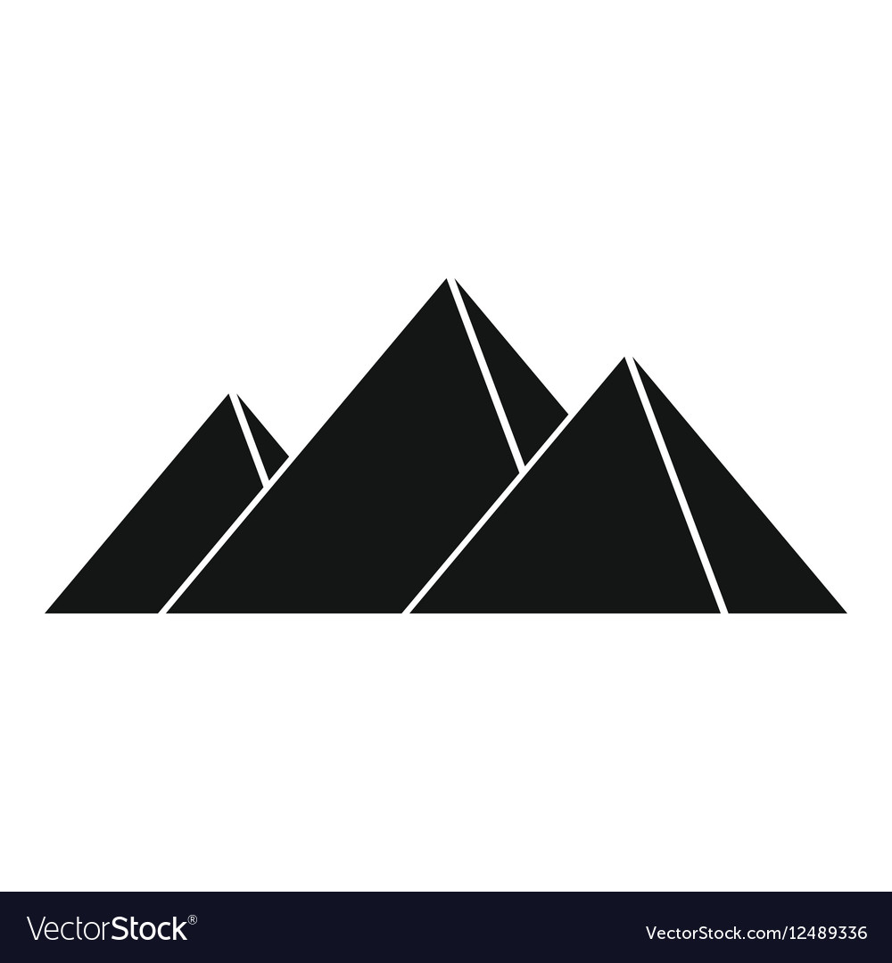 Pyramids in Giza icon simple style