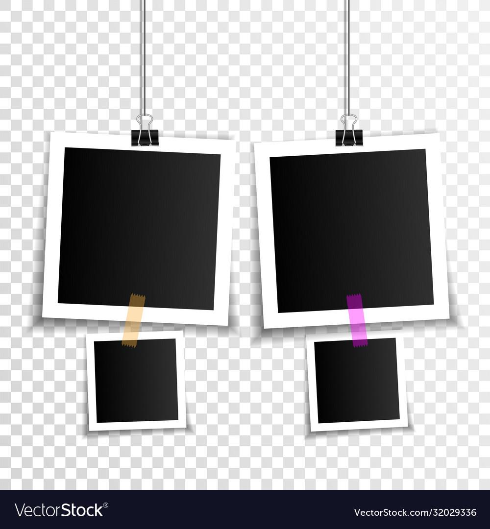 Set empty photo frames