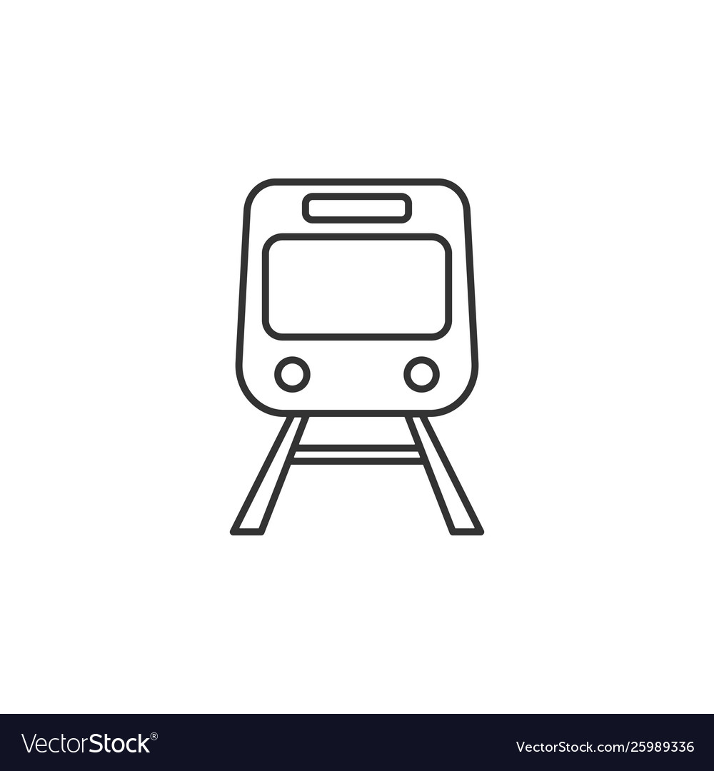 Train transport line icon simple modern flat for