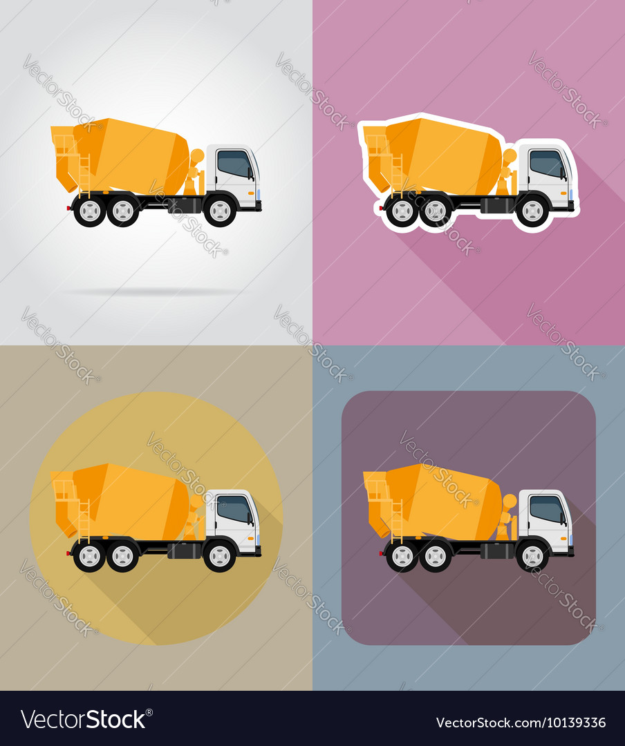 Transport flat icons 24