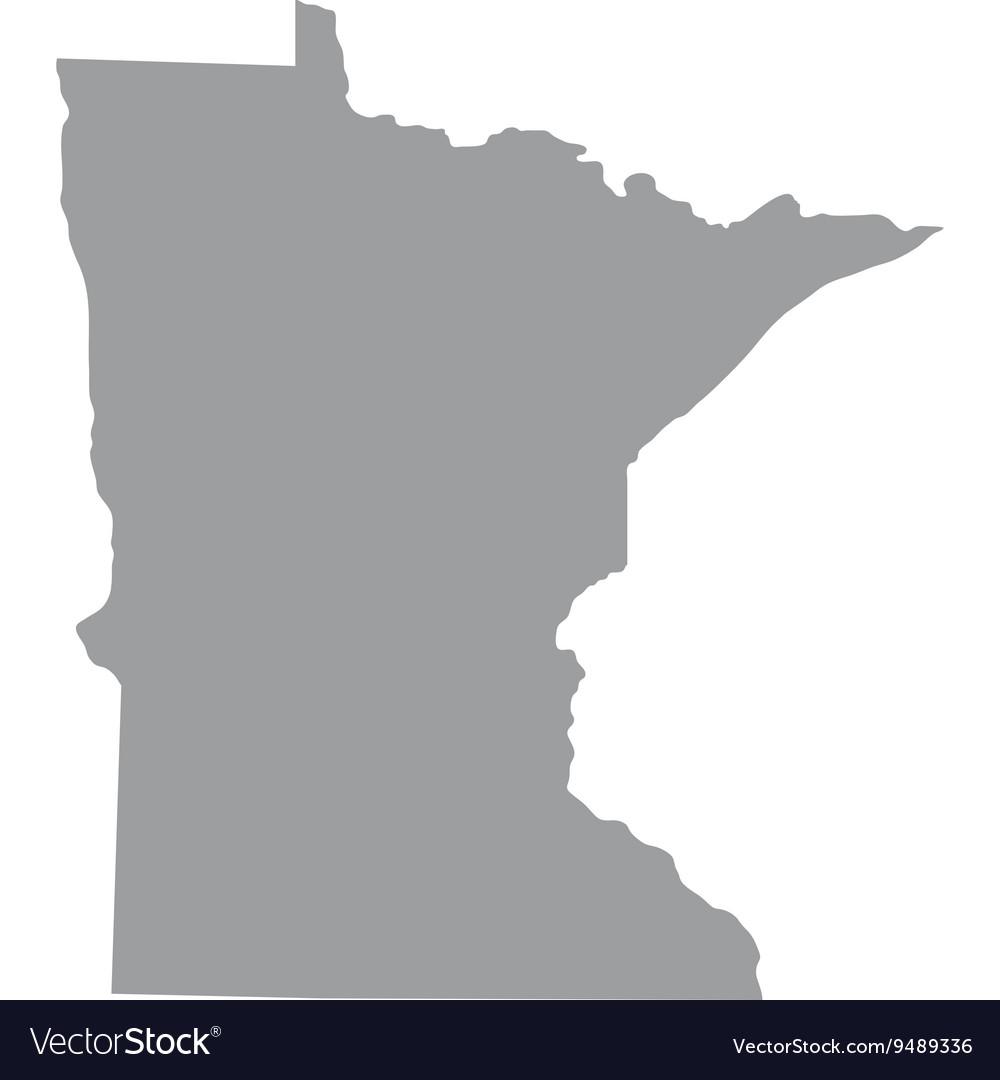 US state of Minnesota vector image