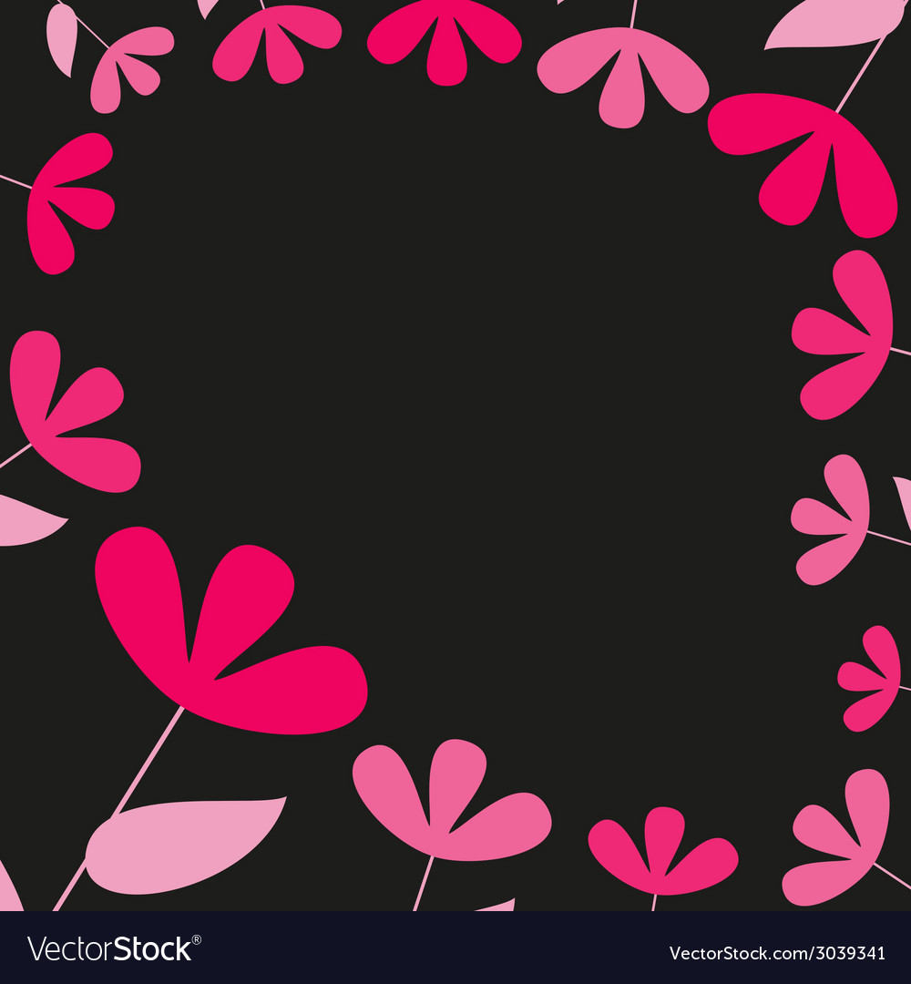 Abstract pink and red floral card