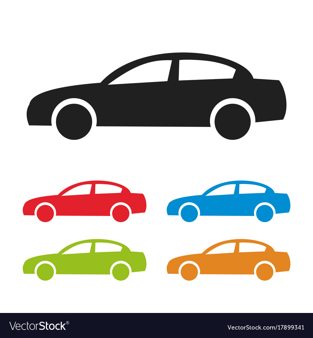 Car icon isolated on white background vector image