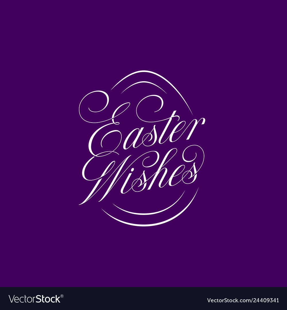 Easter wishes lettering