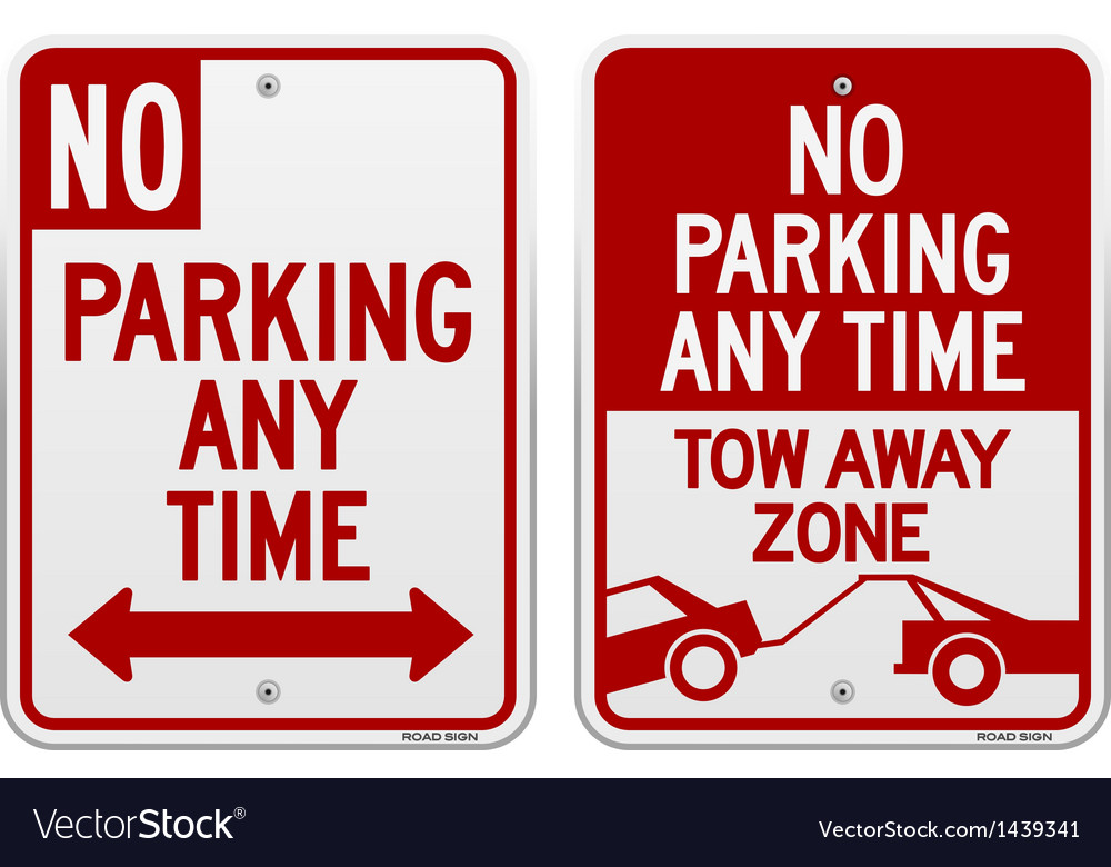 No Parking Sign Royalty Free Vector Image Vectorstock