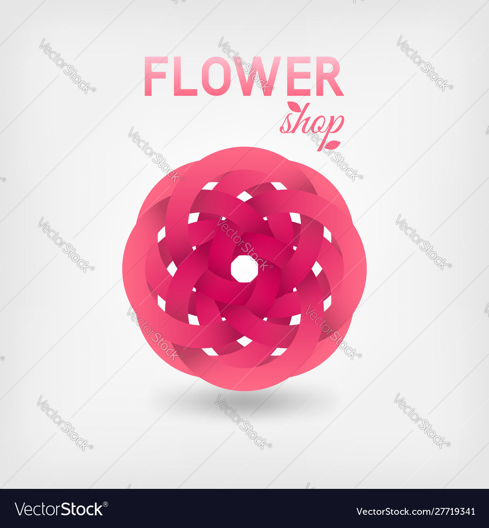 Pink stylized flower ribbons