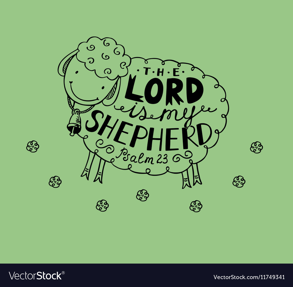 Psalm 23 The Lord is my shepherd vector image