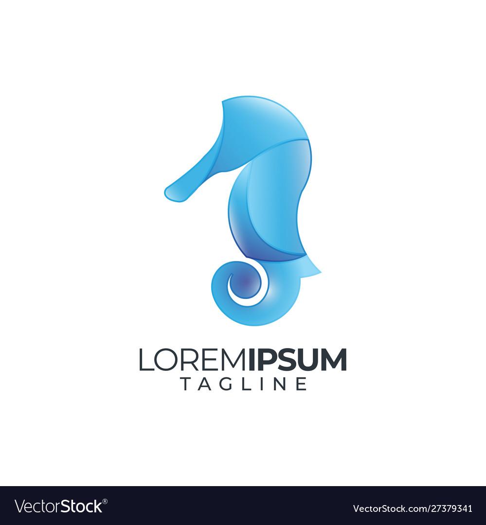Seahorse logo icon silhouette