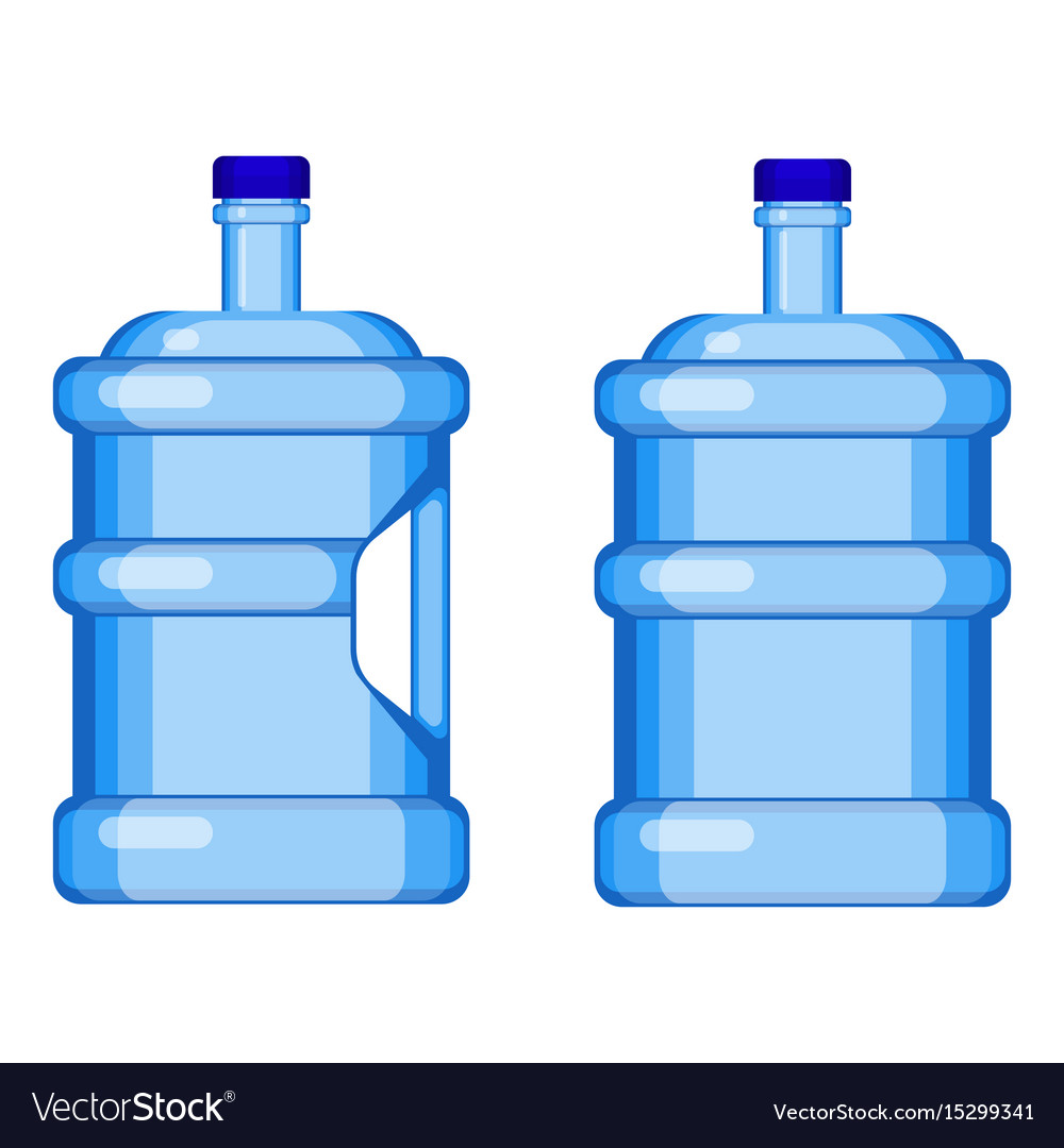 Two gallon water bottles with and without handle