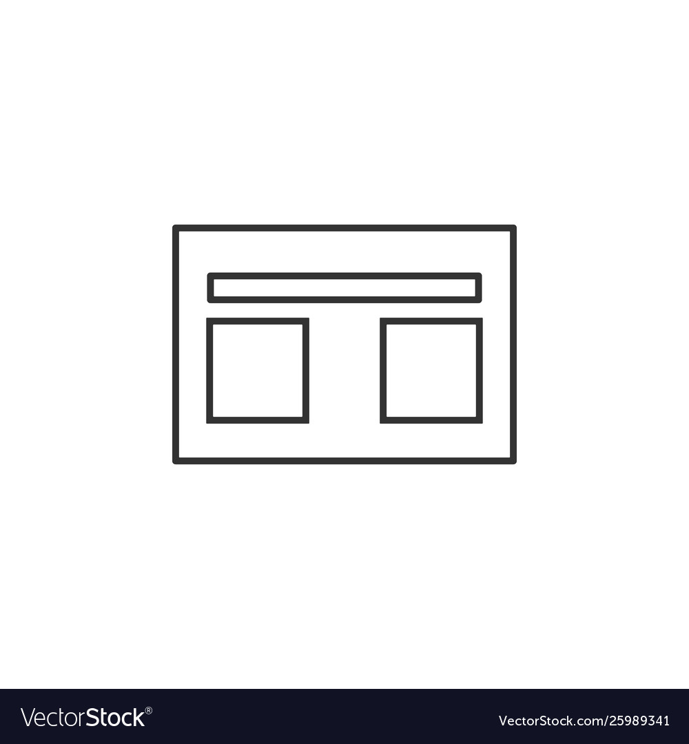 Website web line icon simple modern flat for