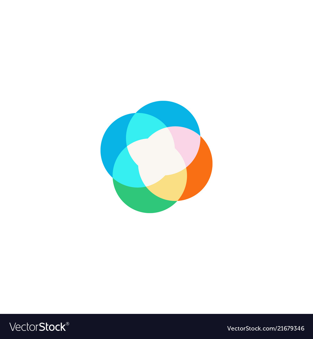 Abstract circle icon on white background
