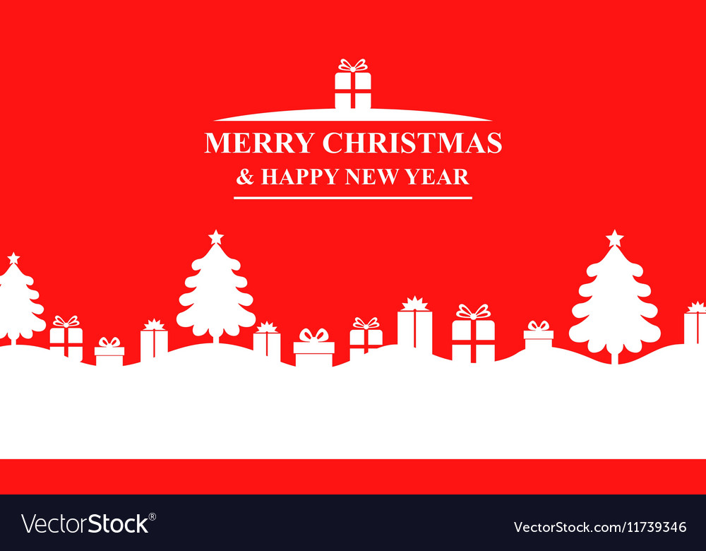 Fir gift banner red vector image