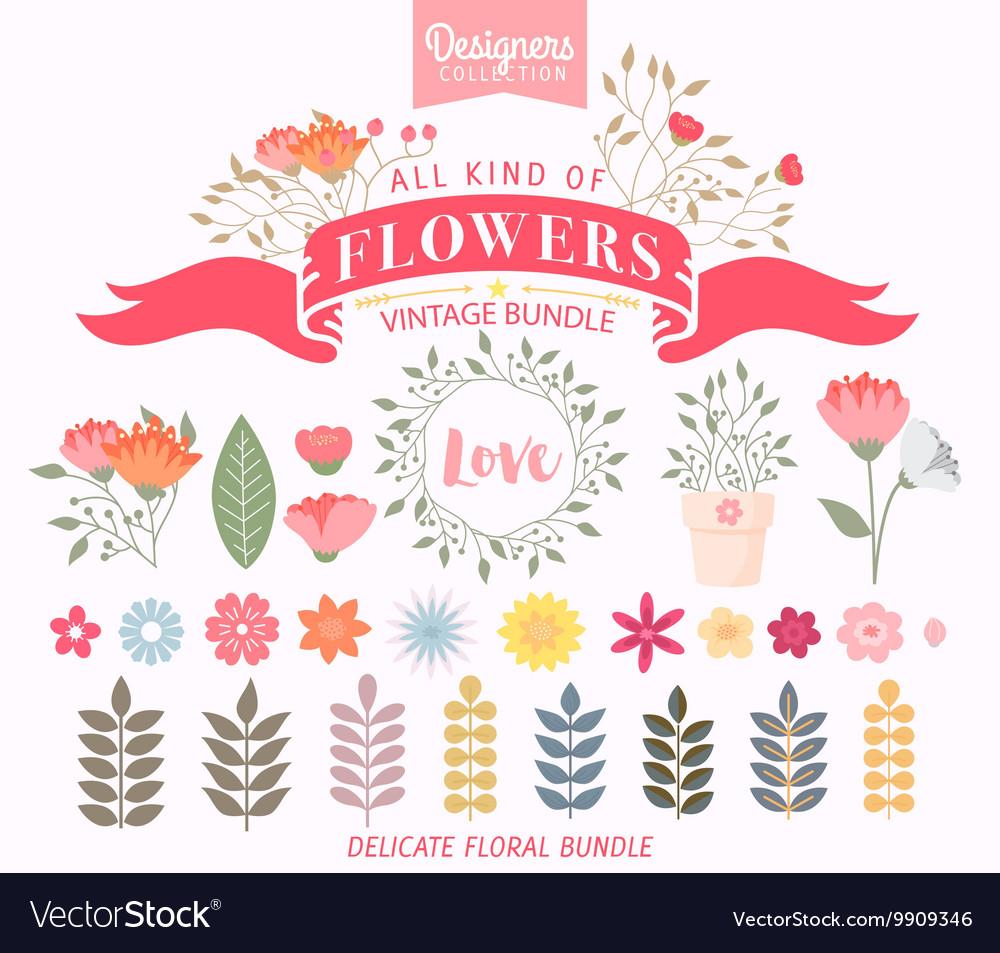Floral Bundle Icon Set