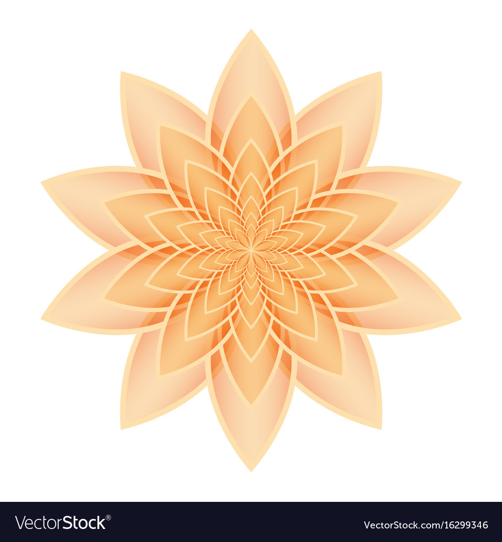 Lotus flower orange royalty free vector image vectorstock lotus flower orange vector image izmirmasajfo