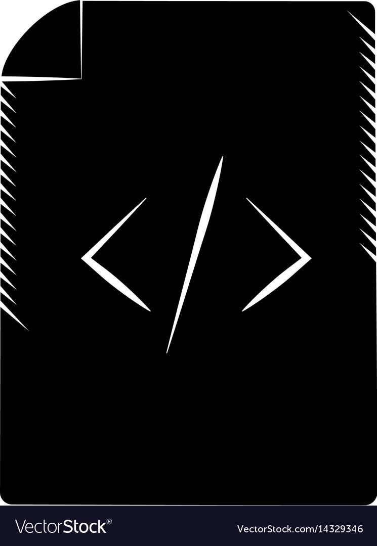 Page html coding web pictogram