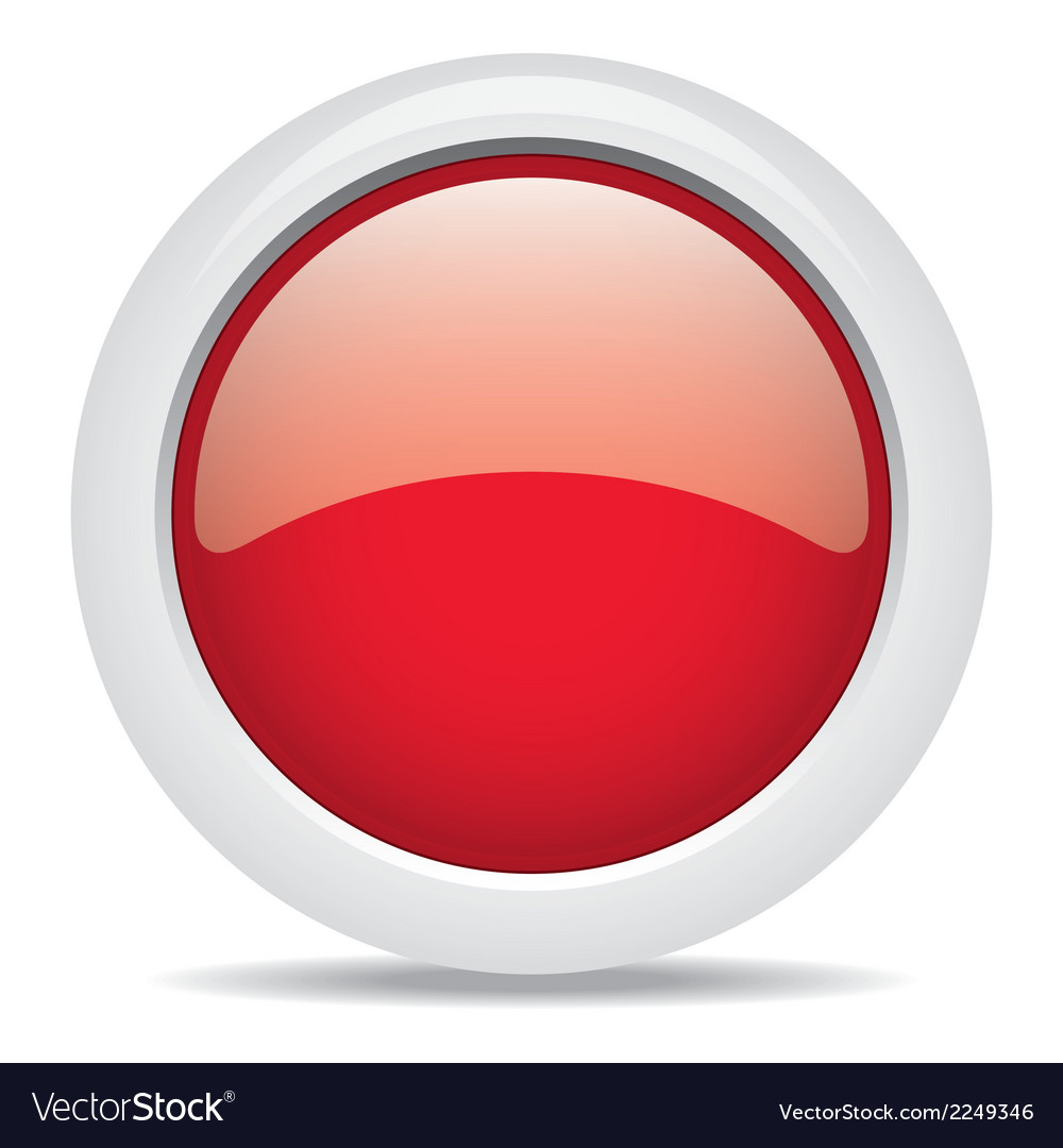 Popular red color web button 3d Royalty Free Vector Image