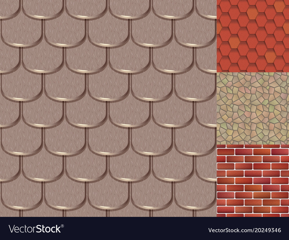 Brick Roof Texture roof tiles of classic texture and detail house vector image