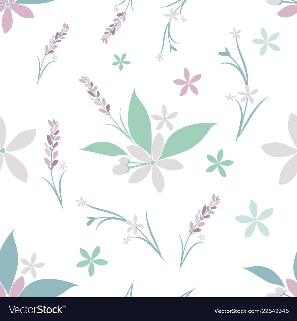 Seamless pattern of various flowers
