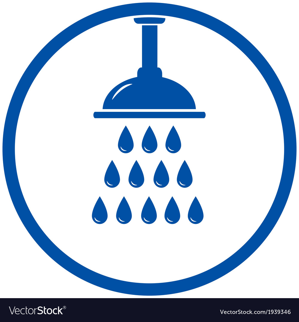 Shower head vector image