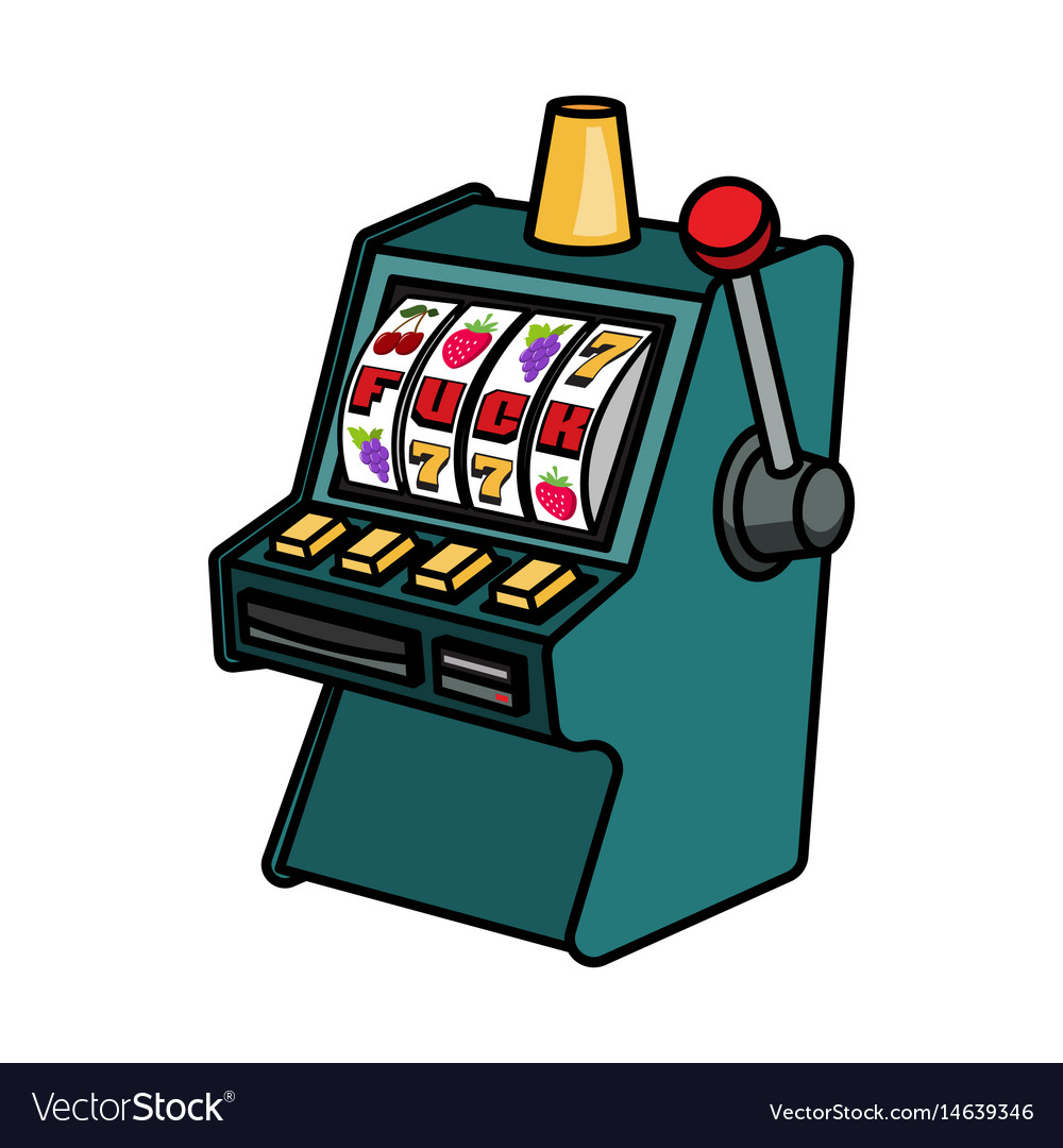 Slot machine fruits vector