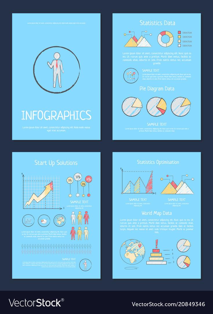 Statistics pie diagram data