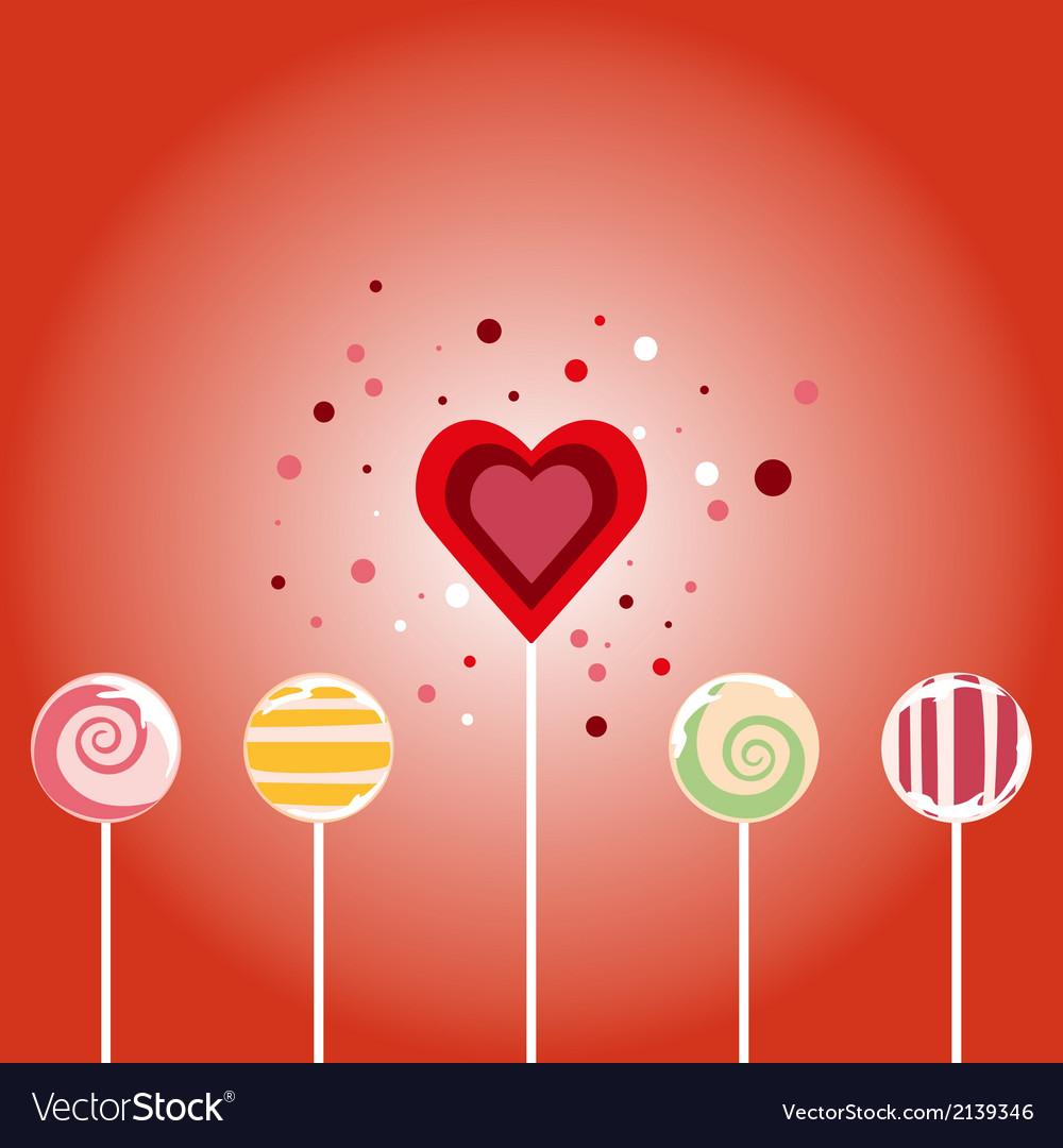Valentine card - seamless pattern