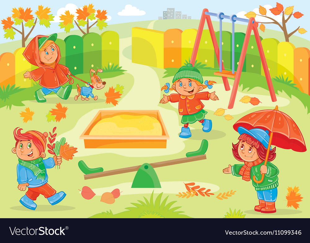 Young children playing