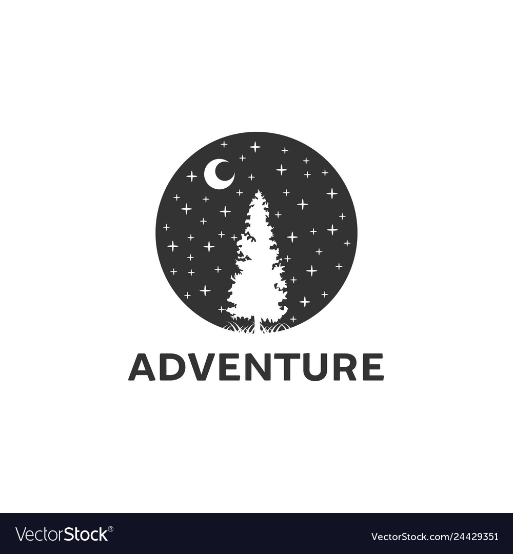 Adventure logo designs with pine trees