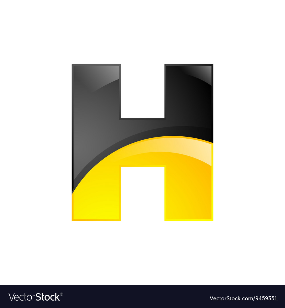 Creative yellow and black symbol letter H for your