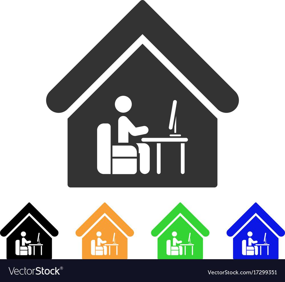 Office room icon Royalty Free Vector Image - VectorStock