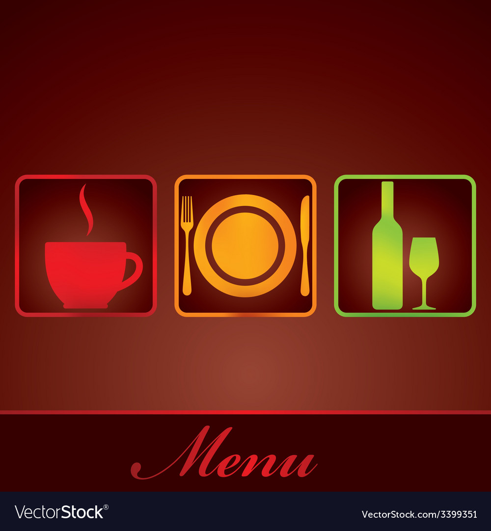 restaurant menu design royalty free vector image