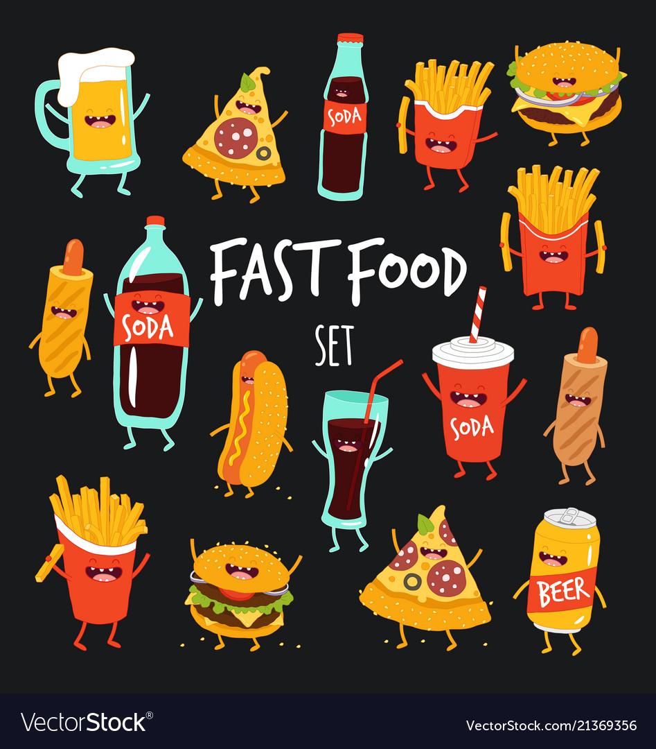 Animated fast food set