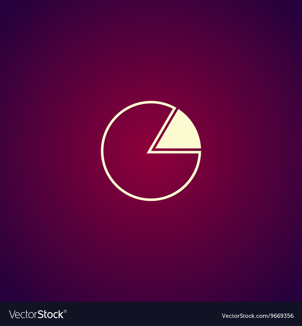 Business pie chart icon Info graphics Modern vector image