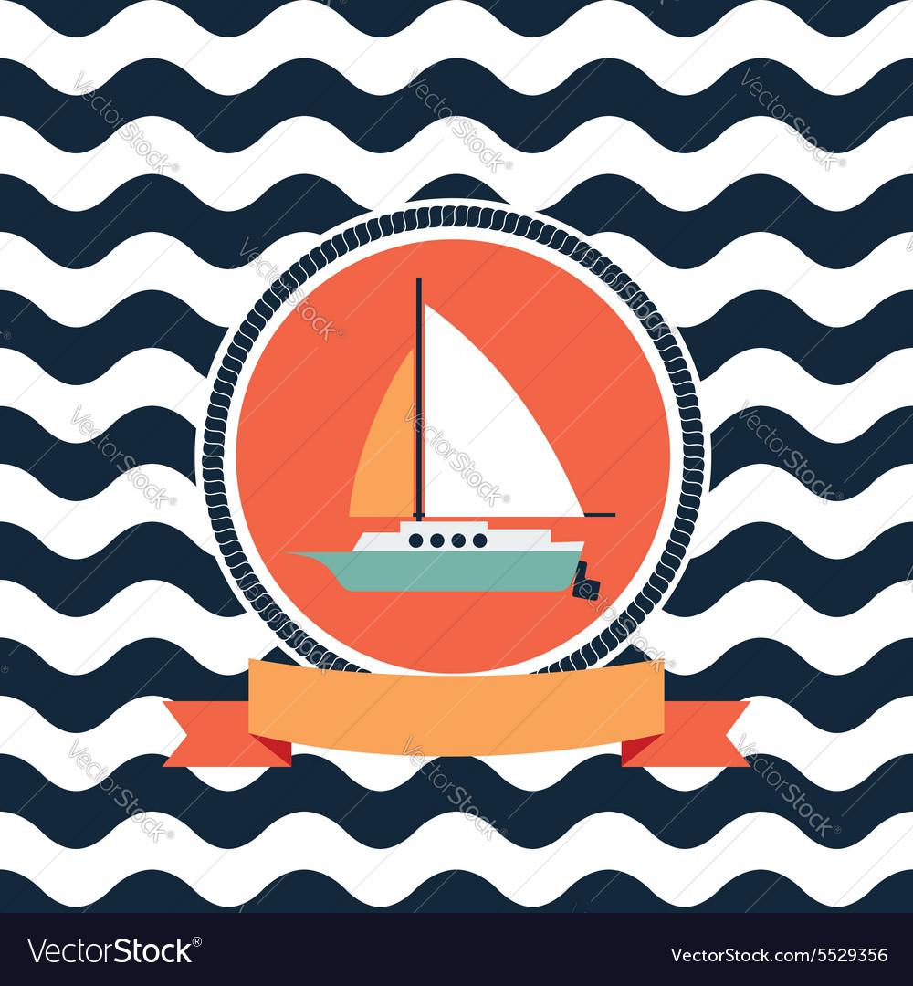 Card at sea sailing yacht