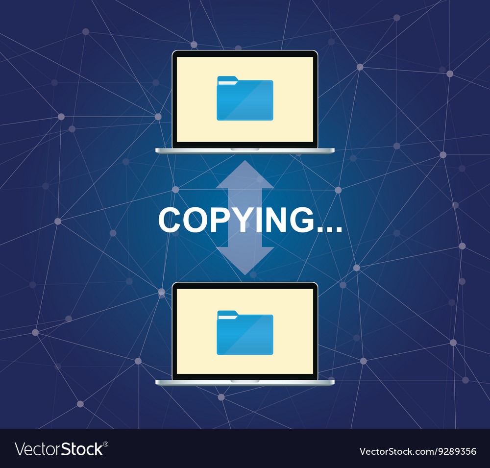 Copying document between two laptop with folder