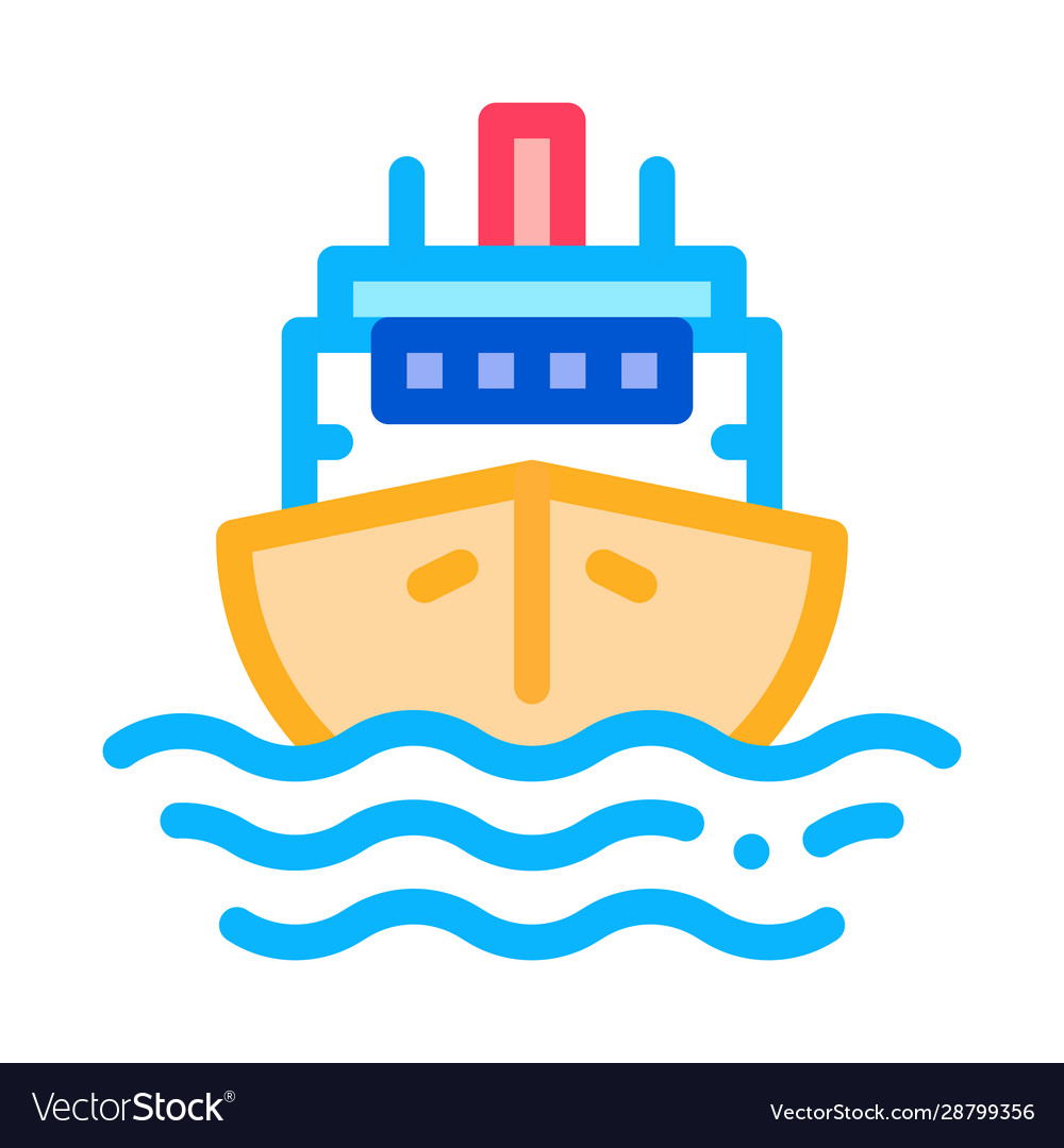 Cruise vessel icon outline