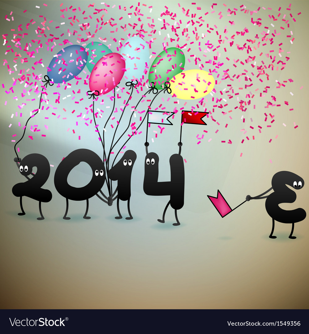 Funny 2014 New Years Eve greeting card