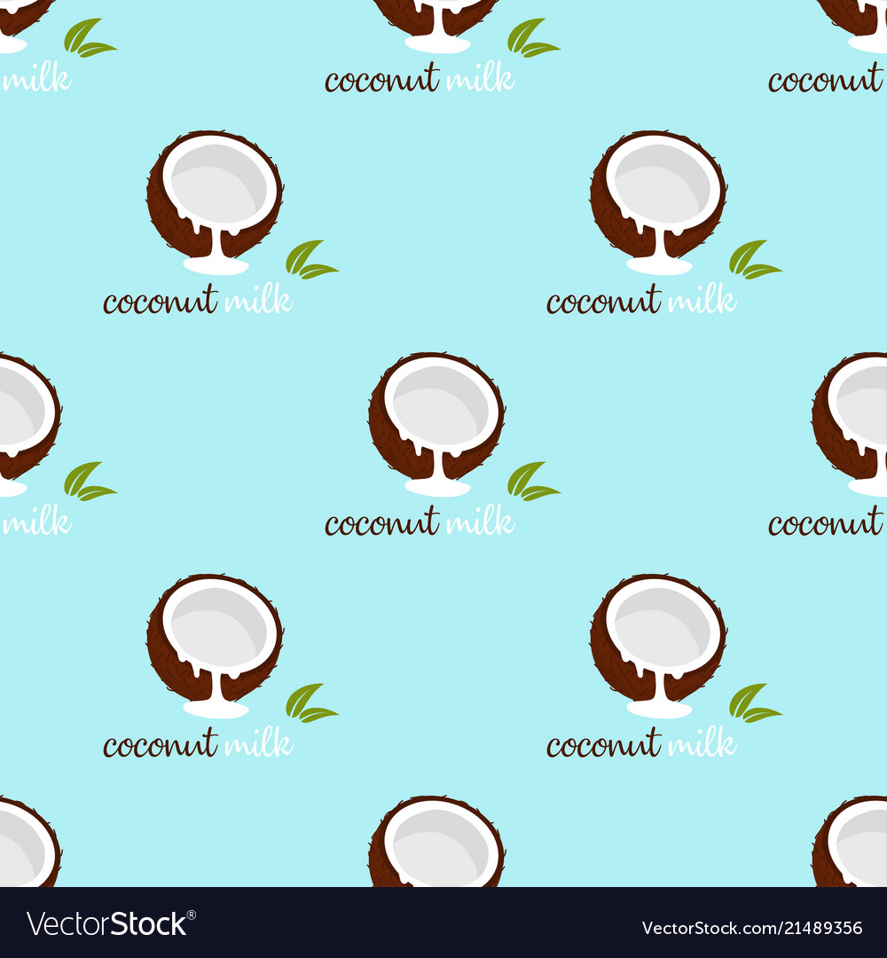 Pattern with coconut milk