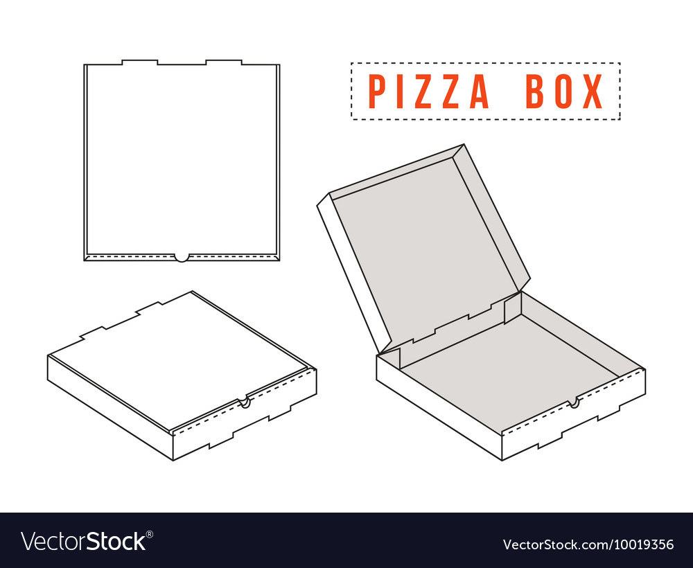 Stock template box for pizza