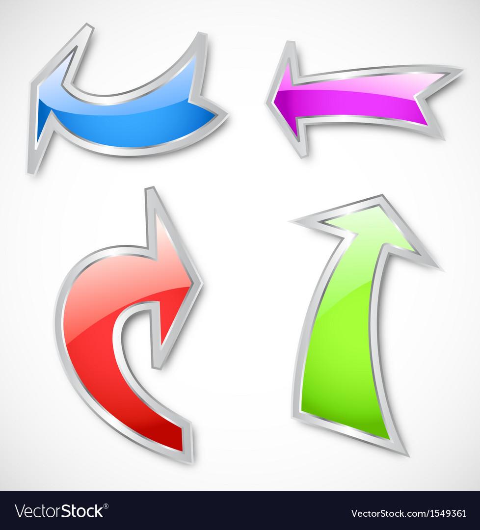Arrows in various colors