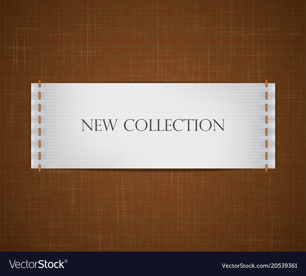 Clothes tag vector image