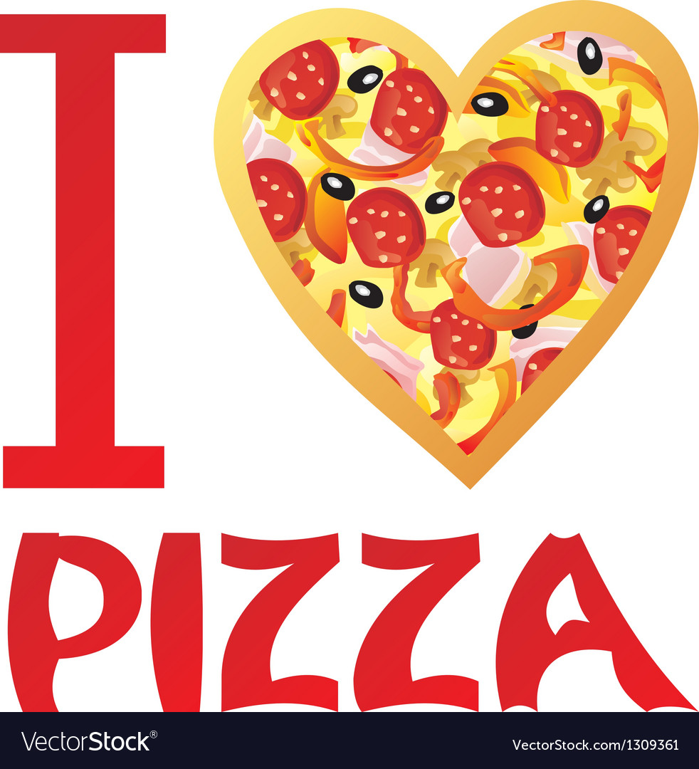I Love Pizza Royalty Free Vector Image Vectorstock